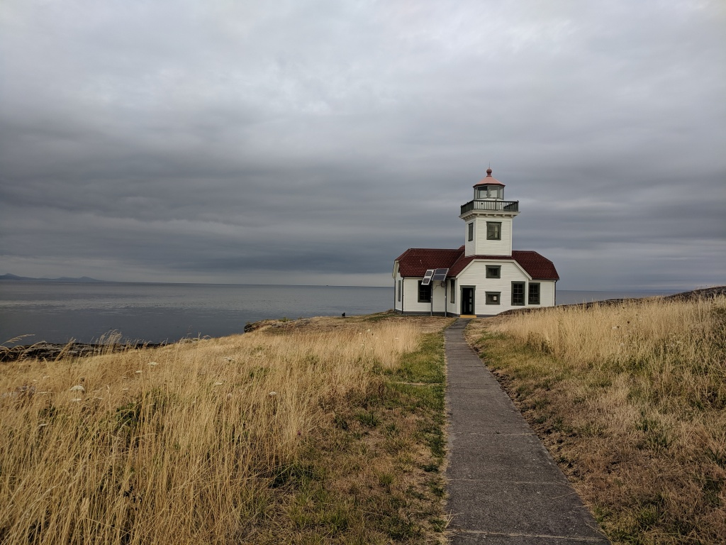 The Patos Island Lighthouse in Washington State, which stands as a reminder of a changed infrastructure of mobility at the edge of a maritime borderland.